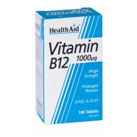 HealthAid Vitamin B12 1000mcg Mega Stremgth - Cyanocobalamin