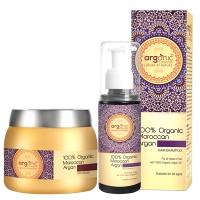 Arganic by Aryanveda 100% Moroccan Argan Hair Shampoo & Hair Mask Comb Pack