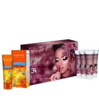 Aryanveda Wine Wow 3x Home Spa Kit With Spf-40 Combo Pack
