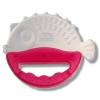 FARLIN Fish Shape Silicon Gum Soother With Handle (Pink)