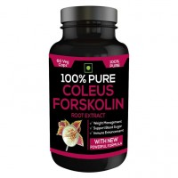Nutravigour 100% Pure Coleus Forskolin 20% Extract 500mg 1x60 Veg Capsules Weight Management Supplement - Pack Of 1