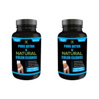 Nutravigour Pure Detox & Natural Colon Cleanse 60 Veg Capsules - Pack Of 2