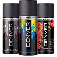 Denver Black Code, Cool And Rodeo Deodorant Combo (Pack Of 3)