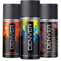 Denver Original, Cool And Rage Deodorant Combo (Pack Of 3)