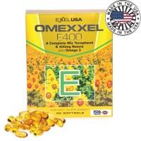 ExxelUSA Omexxel E400 Dha, Epa, Omega 3 Natural Vitamin E