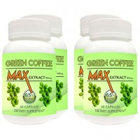 Nutravigour Green Coffee Max 100% Pure & Natural Maximum Concentration Chlorogenic Acid (GCA) Extract 800mg 60 VEG Capsules For Weight Loss - Pack Of 4