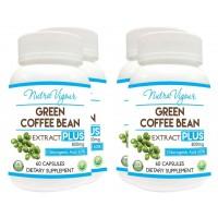 Nutravigour Green Coffee Extract Chlorogenic Acid (GCA) Plus 60% Chlorogenic Acid 60 Veg Capsules 800mg - Pack Of 4