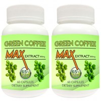 Nutravigour Green Coffee Max 100% Pure & Natural Maximum Concentration Chlorogenic Acid (GCA) Extract 800mg 60 VEG Capsules For Weight Loss - Pack Of 2