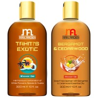 Man Arden Tahiti's Exotic + Bergamot & Cedar wood Luxury Shower Gel