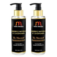 Man Arden Beard Wash Shampoo & Conditioner - The Maverick (Pack of 2)