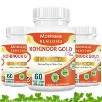 Morpheme Kohinoor Gold Plus 500mg Extracts - 60 Veg Caps. x 3