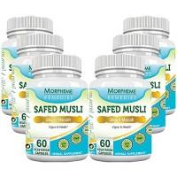 Morpheme Safed Musli 500mg Extract - 60 Veg Caps (6 Bottles)