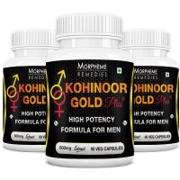 Morpheme Kohinoor Gold Plus 500mg Extract - 90 Veg Caps. x 3