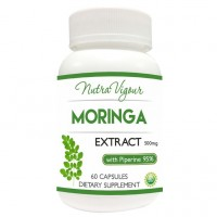 Nutravigour Organic Moringa Extract Dietary Supplement - 60 Capsules