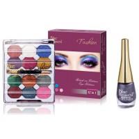 Blue Heaven 12X1 Fashion Eye Shadow & Sparkeling Eyeliner 12 Combo