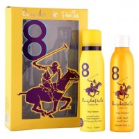 Beverly Hills Polo Club Women's Deodorant And Shower Gel No.8 Gift Set