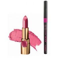 L'Oreal Paris Color Riche Moist Matte Lipstick - PR511 Spring Rosette + Free Kajal Magique