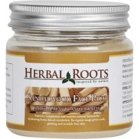 Herbal Roots Skin Care 100% Natural Beauty Product - Sandalwood Face Pack