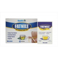Healthvit Fatnile Fat Reduction Tea Garcinia, Green Tea, Ginger For Natural Weight Loss