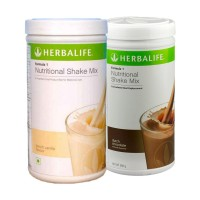 Herbalife Formula 1 Nutritional Shake Mix Dutch Chocolate & French Vanilla - Pack of 2