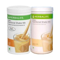 Herbalife Formula 1 Nutritional Shake Mix French Vanilla & Orange Cream - Pack of 2