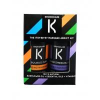 Kronokare Itsy Bitsy Massage Addict Kit Detoxifying Oil + Cooling Oil