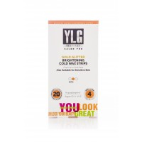 YLG Slogro Gold Glitter Brightening Cold Wax Strips 20S