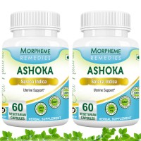 Morpheme Remedies Ashoka Capsules for Uterine Support - 500mg Extract (Pack of 2)