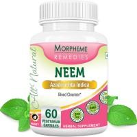Morpheme Remedies Neem Capsules- Blood Cleanser - 500mg Extract