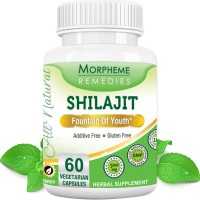 Morpheme Remedies Shilajit Capsules  Fountain Of Youth - 500mg Extract