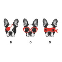 Paperself Temporary Tattoos 3 of a kind Dogs - Black & Red