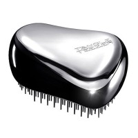 Tangle Teezer Compact Styler Detangling Brush-Black/Chrome