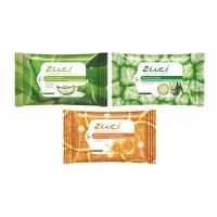 Zuci Pack Of 3 Wet Wipes (Aloevera, Citrus, Cucumber)