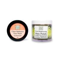 Auravedic Kumkumadi Face Wash & Pure Brightening Skin Polish (set of 2)