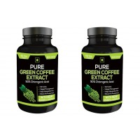 Nutravigour Pure Green Coffee Extract 50% Gca 60 Capsules - Pack Of 2