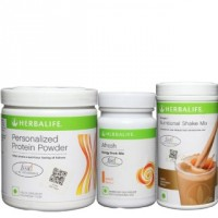 Herbalife Shake (Dutch Chocolate) Protein Powder And Afresh (Lemon) Combo