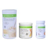 Herbalife Weight Loss Combo - French Vanilla, Protein Powder & Afresh Elaichi