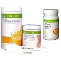 Herbalife Shake (Mango) Protein Powder And Afresh (Elaichi) Combo