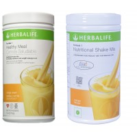 Herbalife Meal Replacement Shakes Combo - Orange Cream & Mango - 500 Grms Each