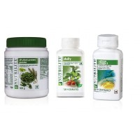 Amway Protein Powder-500 grms, Daily-120 & Omega-60 Softgels - Combo of 3