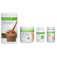 Herbalife Weight Loss Pack- Dutch Chocolate, Cell-U-Loss, Protein Powder & Peach