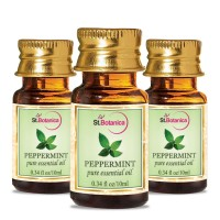 St.Botanica Peppermint Pure Aroma Essential Oil - 10ml x 3