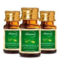 St.Botanica Citronella Pure Aroma Essential Oil - 10ml x 3