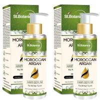 St.Botanica Moroccan Argan Hair Serum for All Hair Types & Beard (Pack of 2)