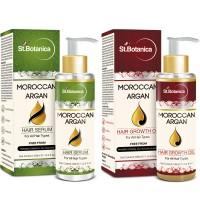 St.Botanica Moroccan Argan Hair Serum + Hair Growth Oil (Combo Pack)