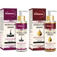 St.Botanica Moroccan Argan Hair Shampoo + Hair Growth Oil (Combo Pack)