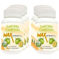 Nutravigour Garcinia Cambogia Max 85% Hydroxycitric Acid (Hca) Veg Capsules 6x90, Weight Management 800 Mg - Ultimate Pack Of 6