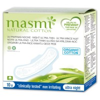 Masmi Organic Sanitary Pads Night Wings Indvidually Wrapped