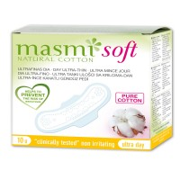 Masmi Pure Cotton Soft Sanitary Pads Day Wings Indvidually Wrapped