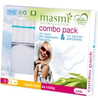 Masmi Organic Panty Liner And Tampon REGULAR COMBO PACK